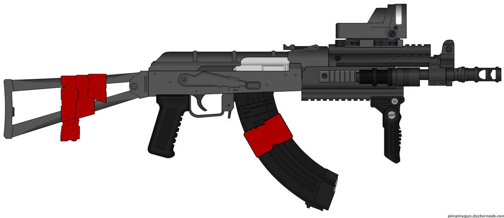 Post-apocalyptic : AK custom - little blood - by ZiWeS