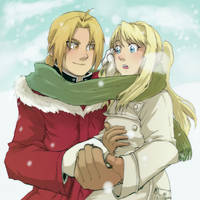 Mittens + Jackets -Ed x Winry by CeruleanSan
