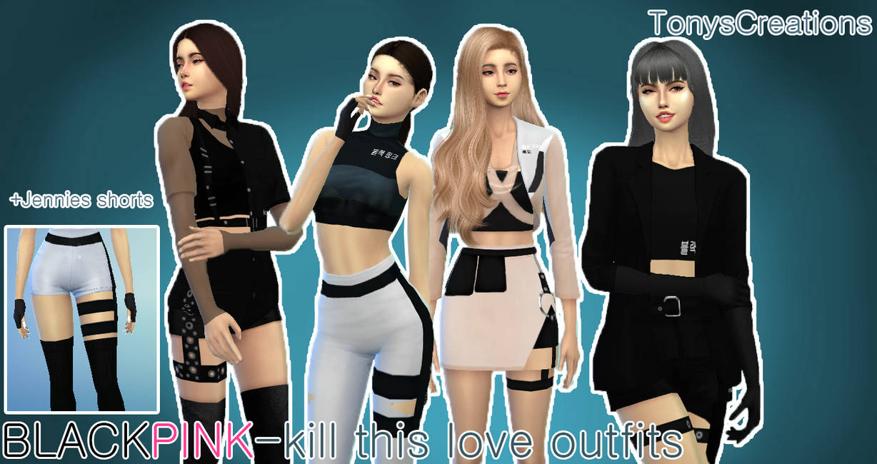 Blackpink Kill This Love Outfits Sims 4 Cc By Tonyscreations On Deviantart