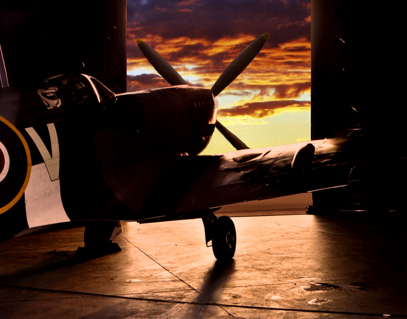 SUNSET bbmf spitfire by Sceptre63