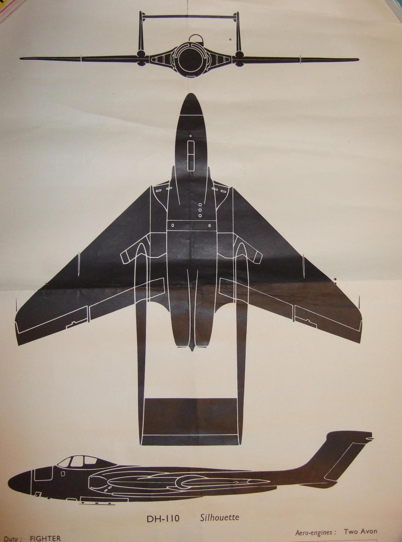 RAF silhouette DH110 sea vixen by Sceptre63