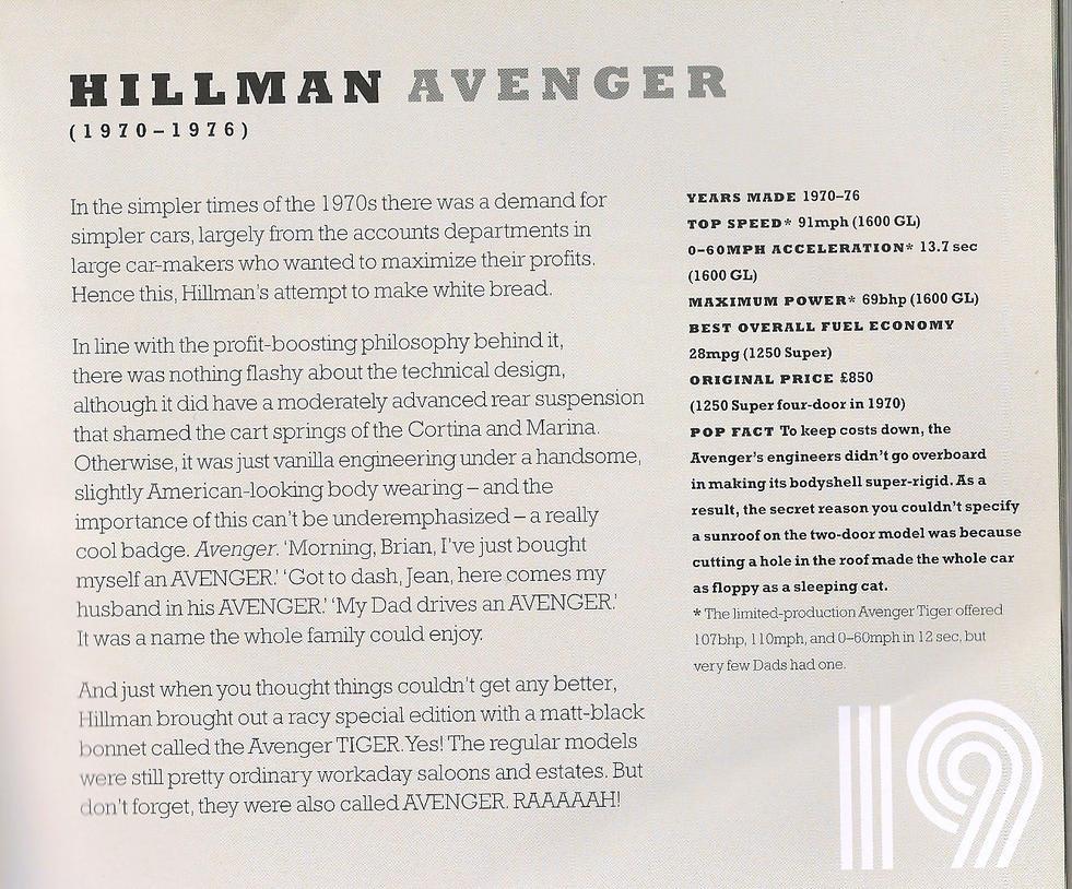 HILLMAN AVENGER info by *Sceptre63 on deviantART