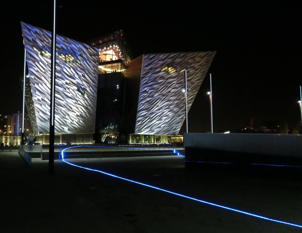 Belfast docks, Titanic visitor centre , by Sceptre63