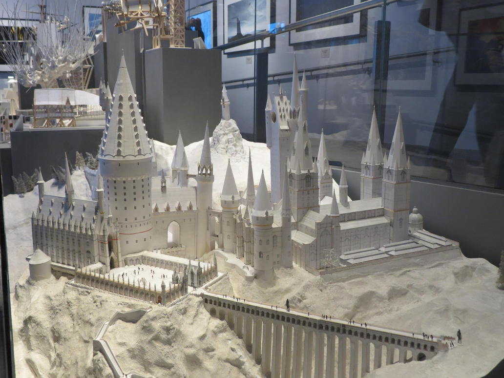 Harry Potter Studio Sets Tour White Card Model By