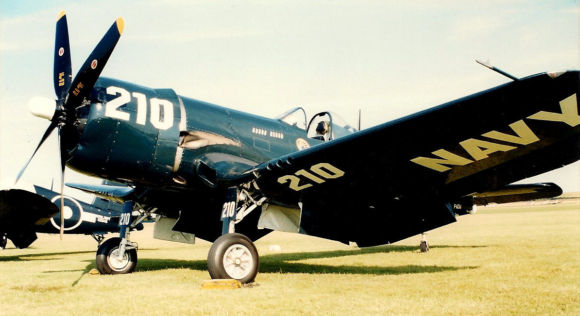 OLD FILM SCAN F4U VOUGHT CORSAIR by Sceptre63