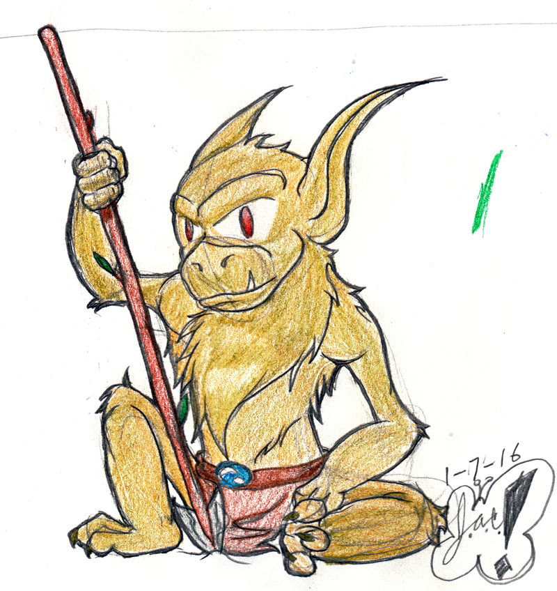 Young Goblin Brave by AngelicDirt