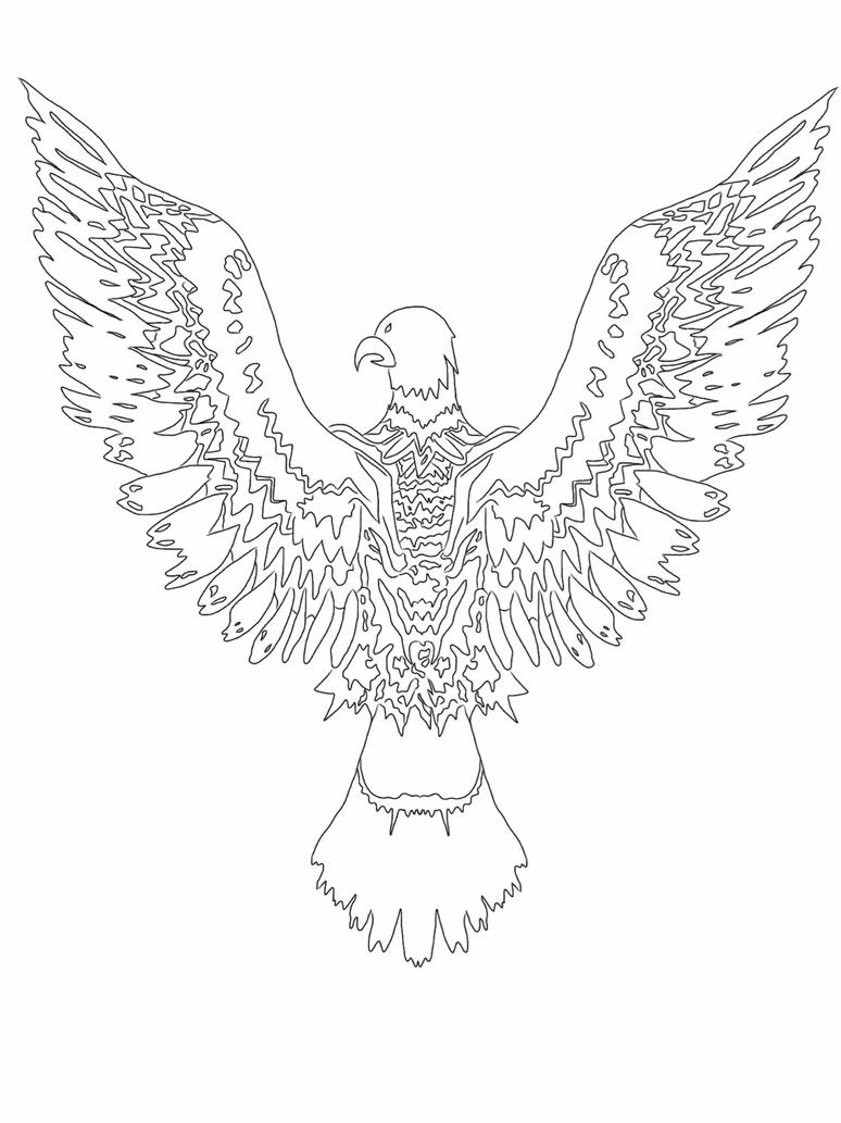 Line Drawing Eagle : Eagle line art by ladymonet on deviantart