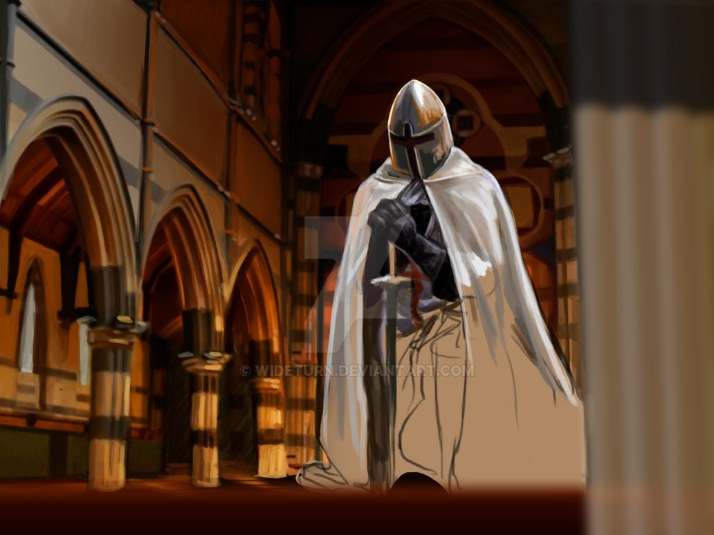 Praying knight WIP by wideturn