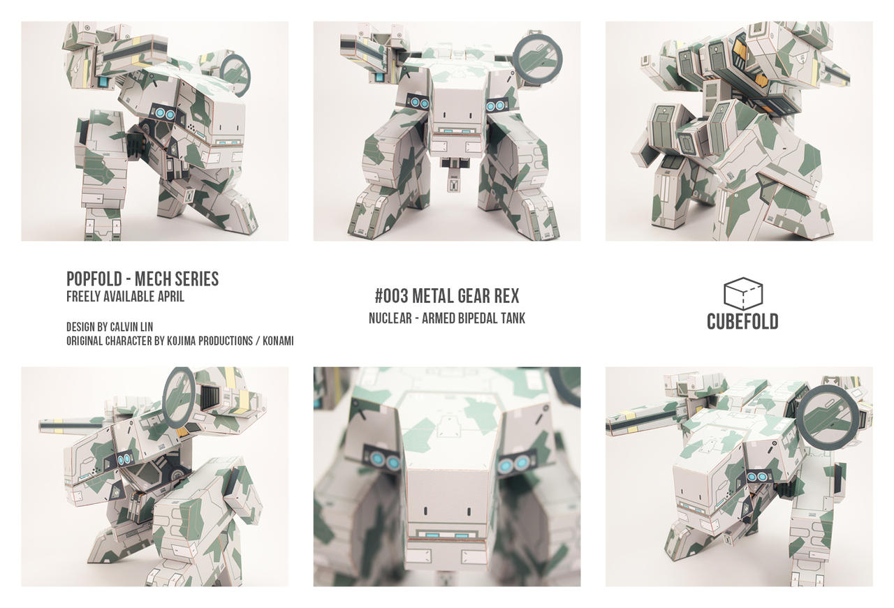 POPFOLD - METAL GEAR REX
