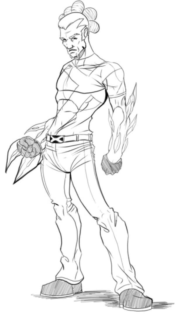 X-men Evolution Spike Redesign by blaquejag