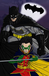Batman and Robin Render