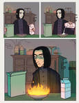 Snape can't cook however by Kvasii