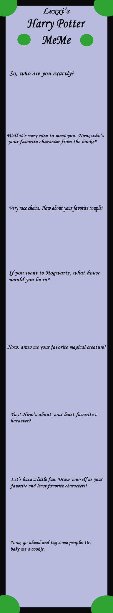 Harry Potter Meme - Original by Sparkle-And-Sunshine