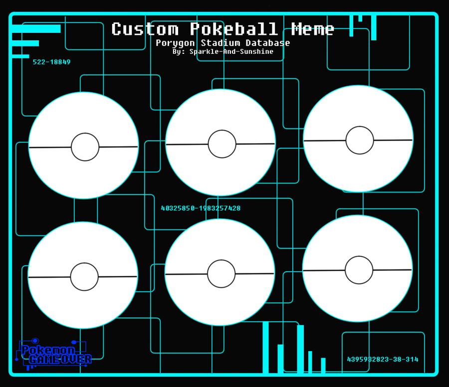 PGO - Custom Pokeball Template by Sparkle-And-Sunshine