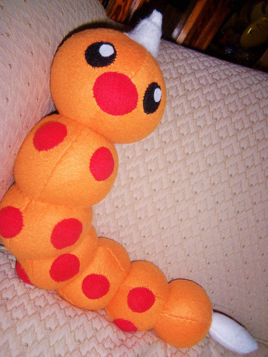 Weedle Plush by Sparkle-And-Sunshine