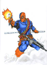 Deathstroke Colored-signed
