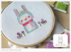 Cross-stitch Pixel Bunny by smilerecipe