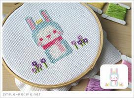 Cross-stitch Pixel Bunny by smilerecipe
