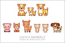 Little Pixel Animals by smilerecipe