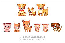 Little Pixel Animals by smilerecipe