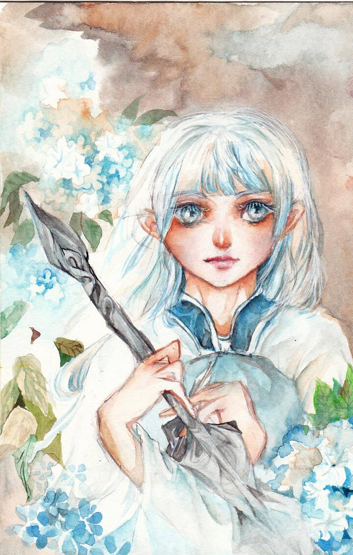 White hair by Silent-Flowers