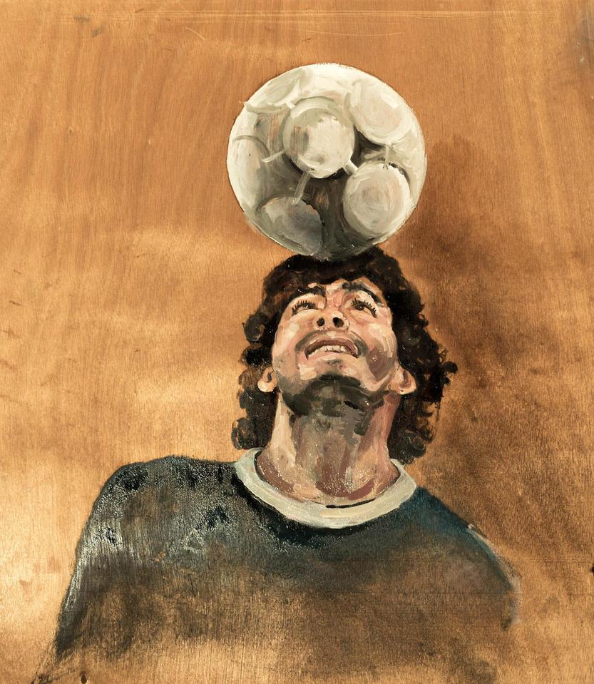 Diego Maradona by annamariadel