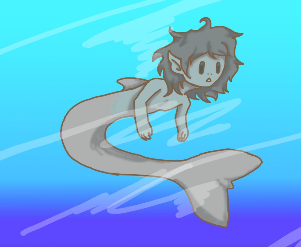 Dolphin boy by Shinigami-cat