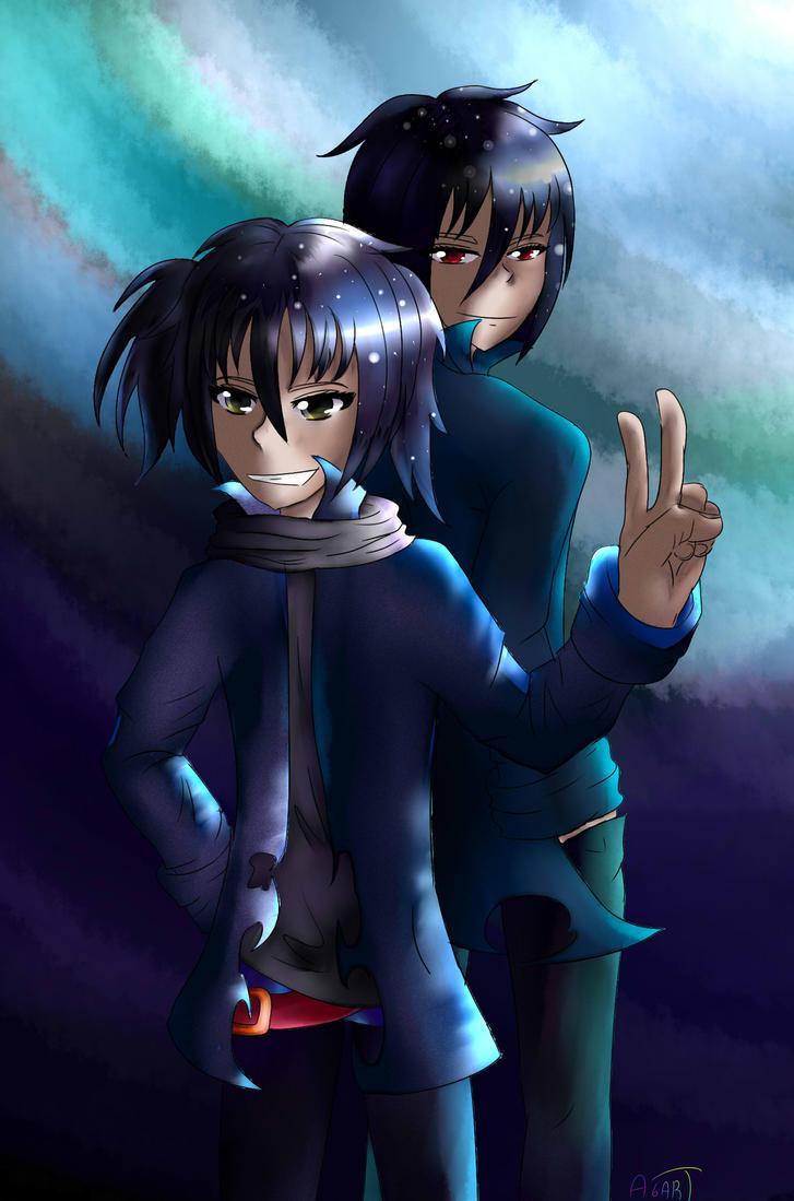 Metarune Yoru and Naito by Azazel6art