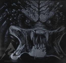 Predator engraving glass