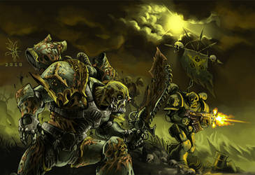 Death Guards Furious Charge