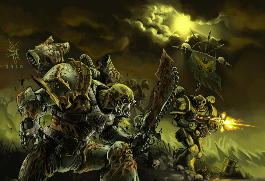 Death Guards Furious Charge by nehrist