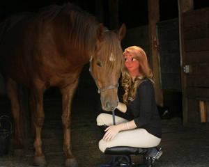 Girl and Horse Rapunzel