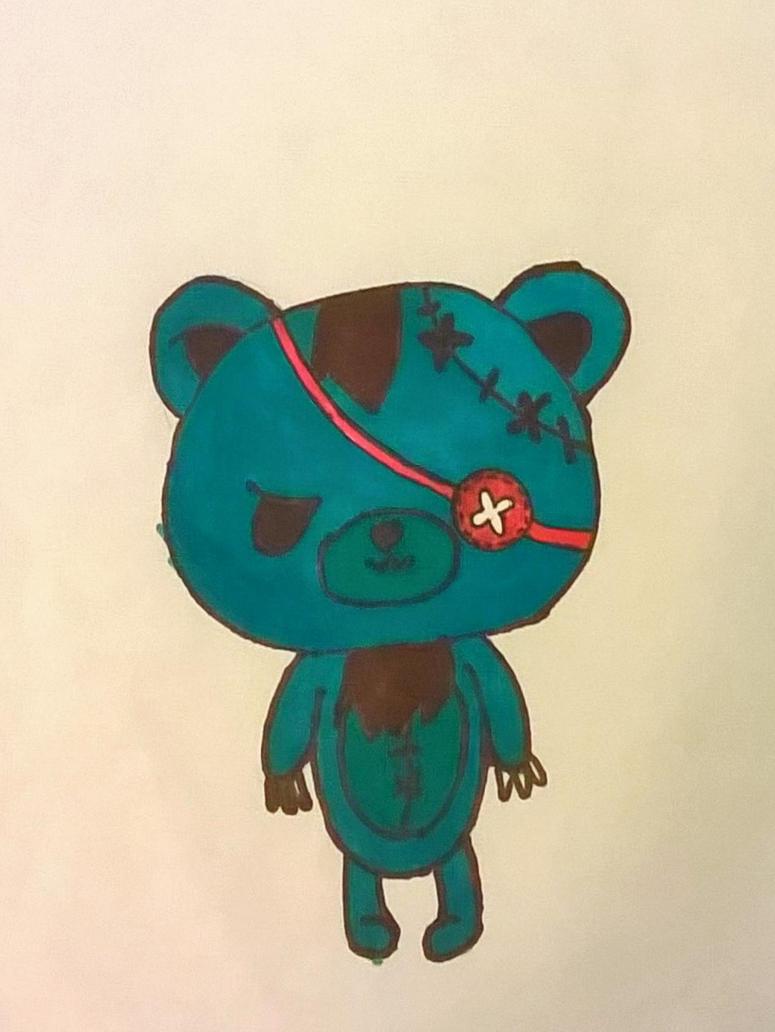Angry Teddybear by sarahrocksitalways