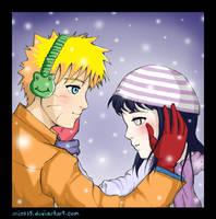 NaruHina--Winter Warmth by mics15