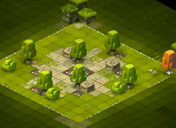 Krosmaster Project: Trees and bushes researches