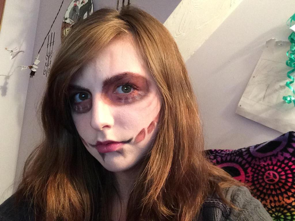 Female Titan makeup by xXxLunaAstralxXx