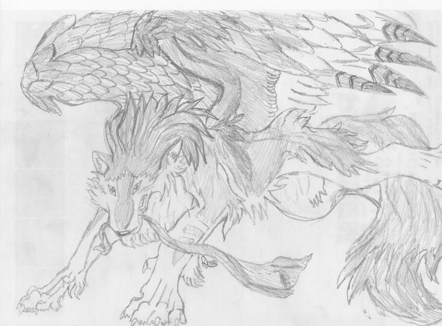 Winged Wolf- Kurayami by Ammy184