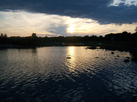 Dark Sunset in Rhode Island