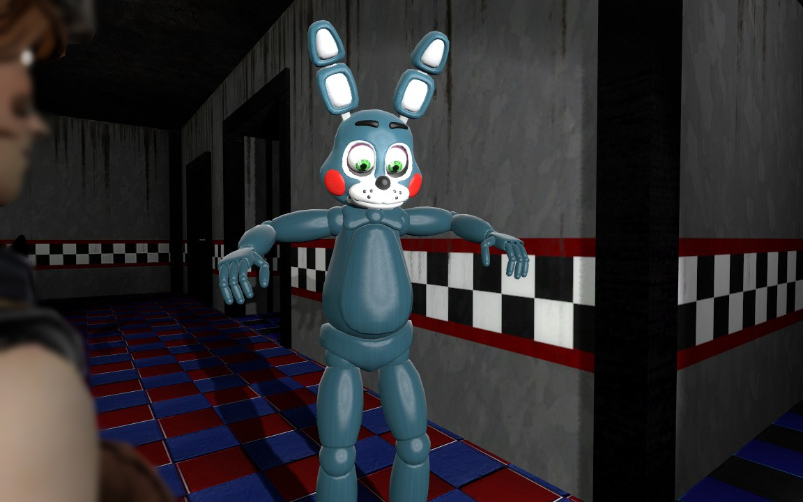 Toy Bonnie and the Curious Lamp Glitch by RaggedyStar on