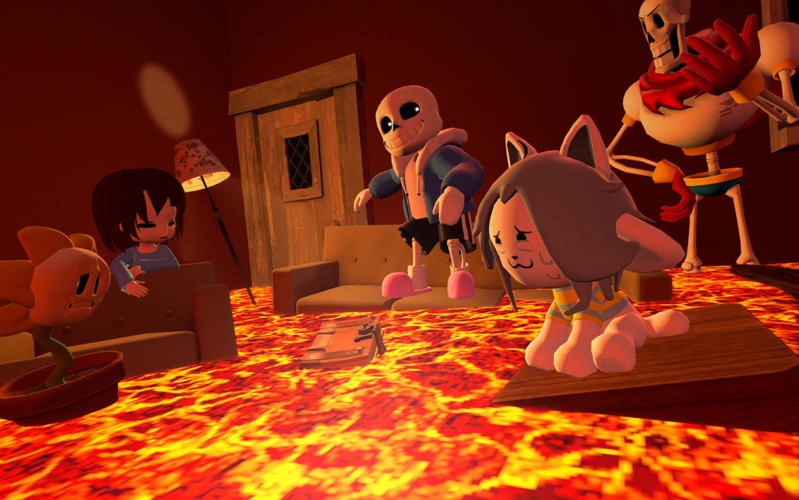 The floor is lava by raggedystar on deviantart for Lava parquet