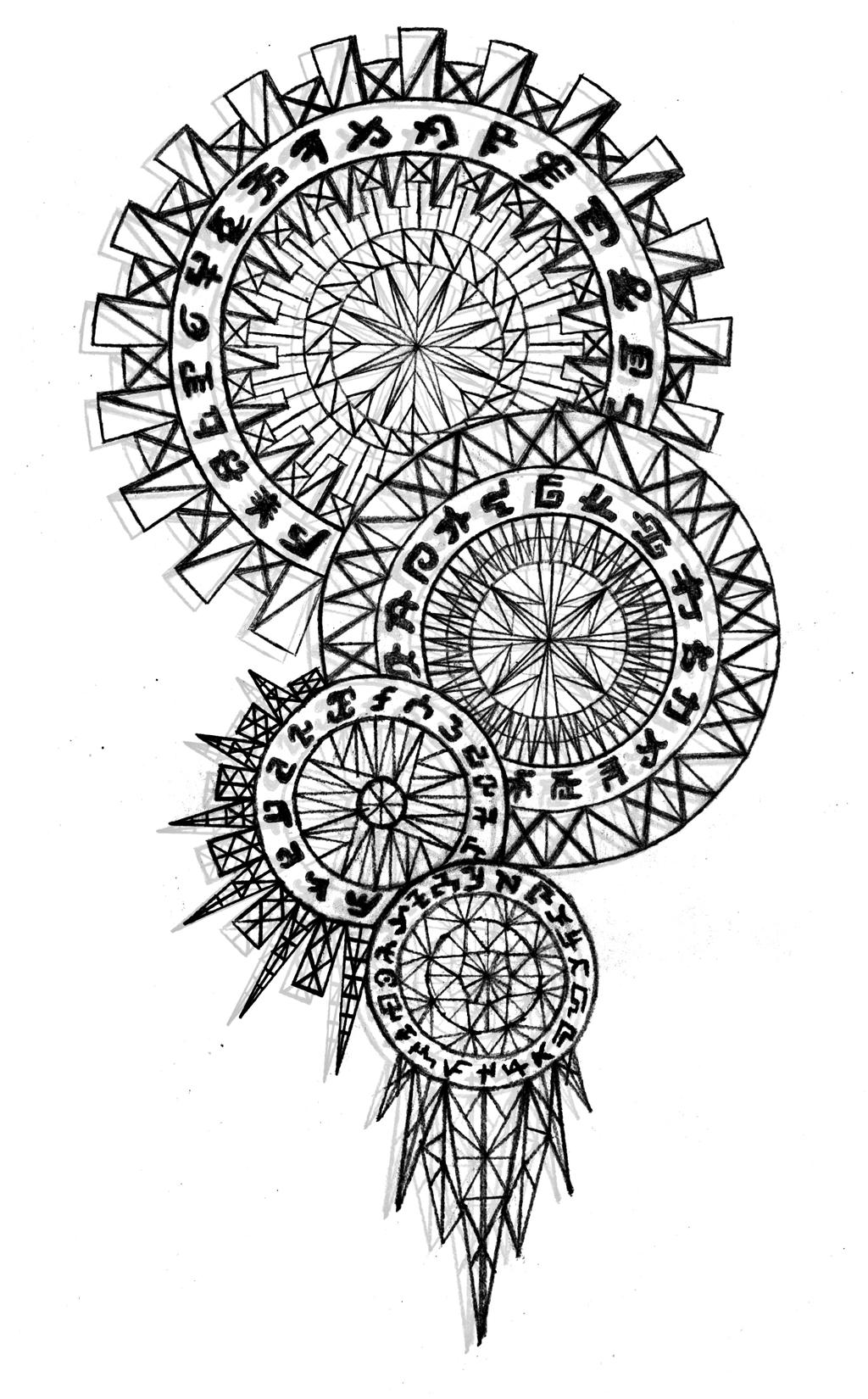 Wolf Dream Catchers Drawings Dreamcatcher by MyBurn...