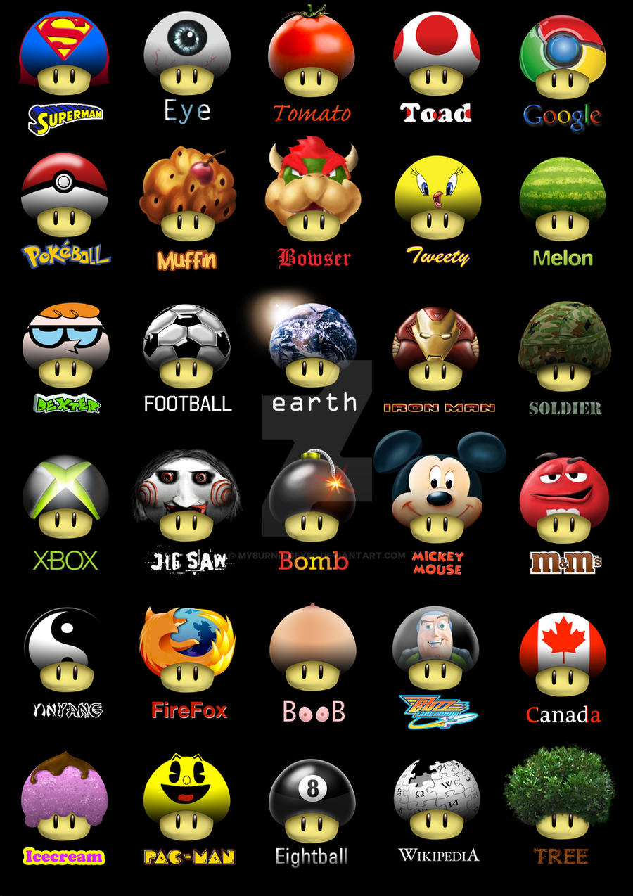 Super Mario Shrooms 2 by MyBurningEyes