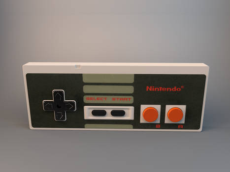 NES controller 3D
