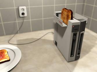 NES Toaster by MyBurningEyes