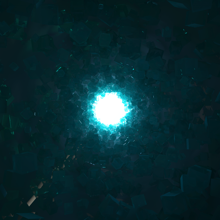 Daily render #16: Diamond Cave by MyBurningEyes