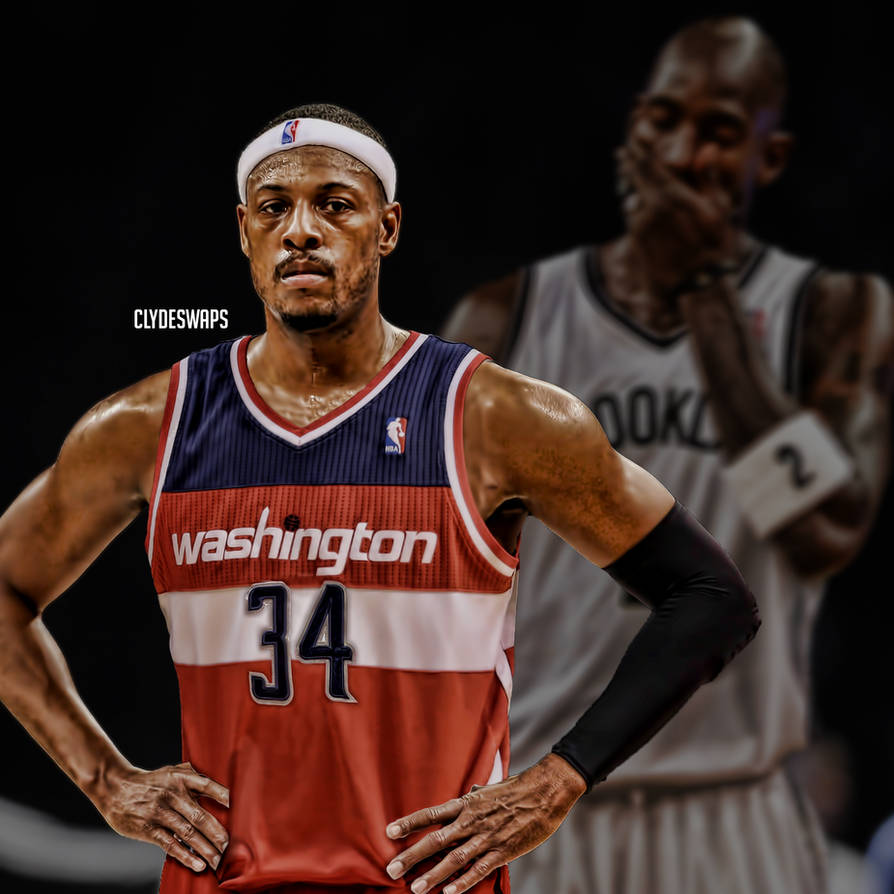 best service 0fa7d be0ad Paul Pierce to the Wizards | Jersey Swap by ClydeGraffix on ...