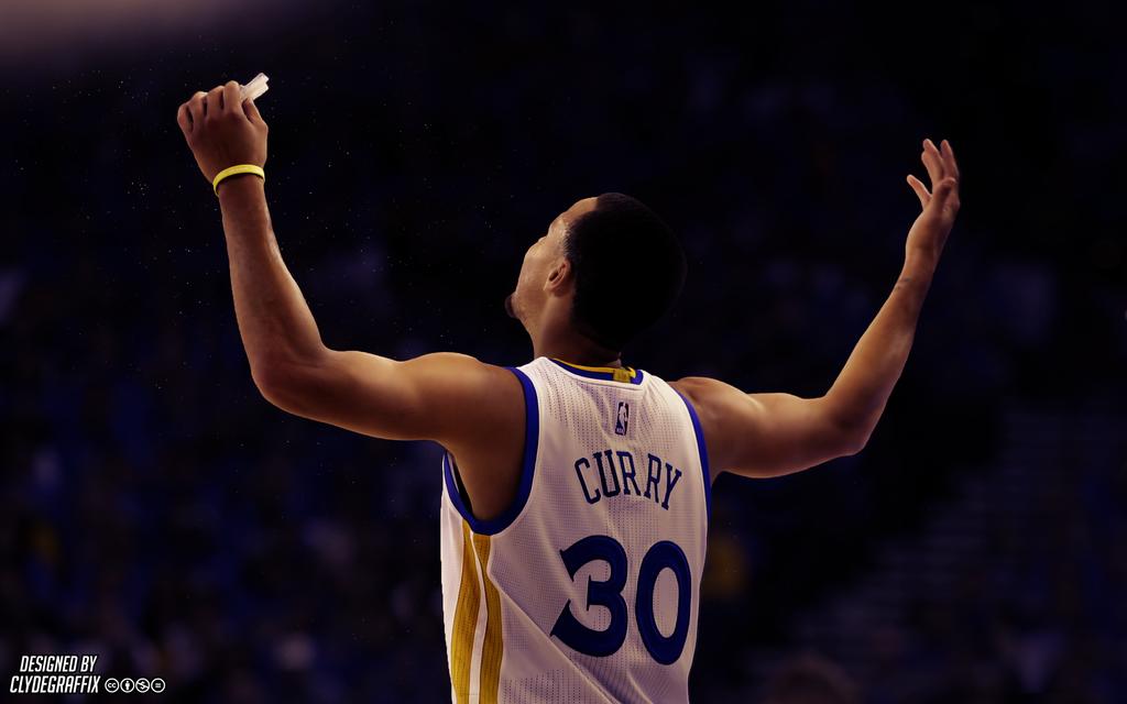 Stephen Curry Hands Up | Lighting | Wallpaper by ClydeGraffix