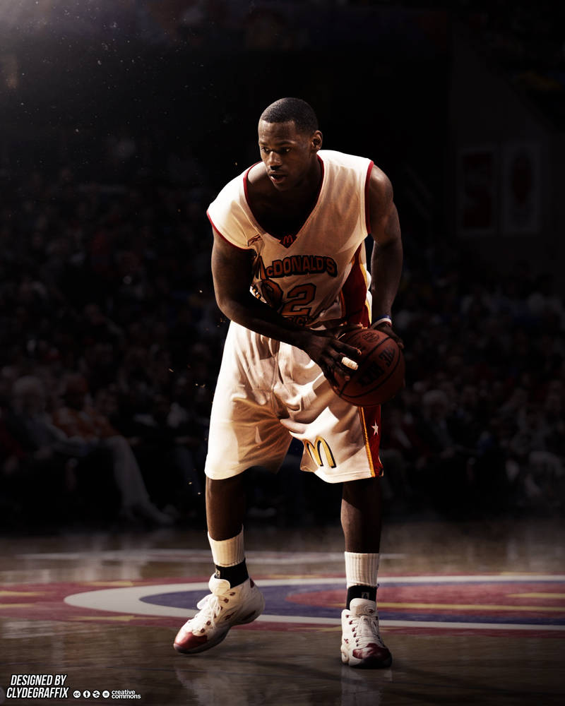 brand new 94749 59bef LeBron James | McDonald's All American | Poster by ...