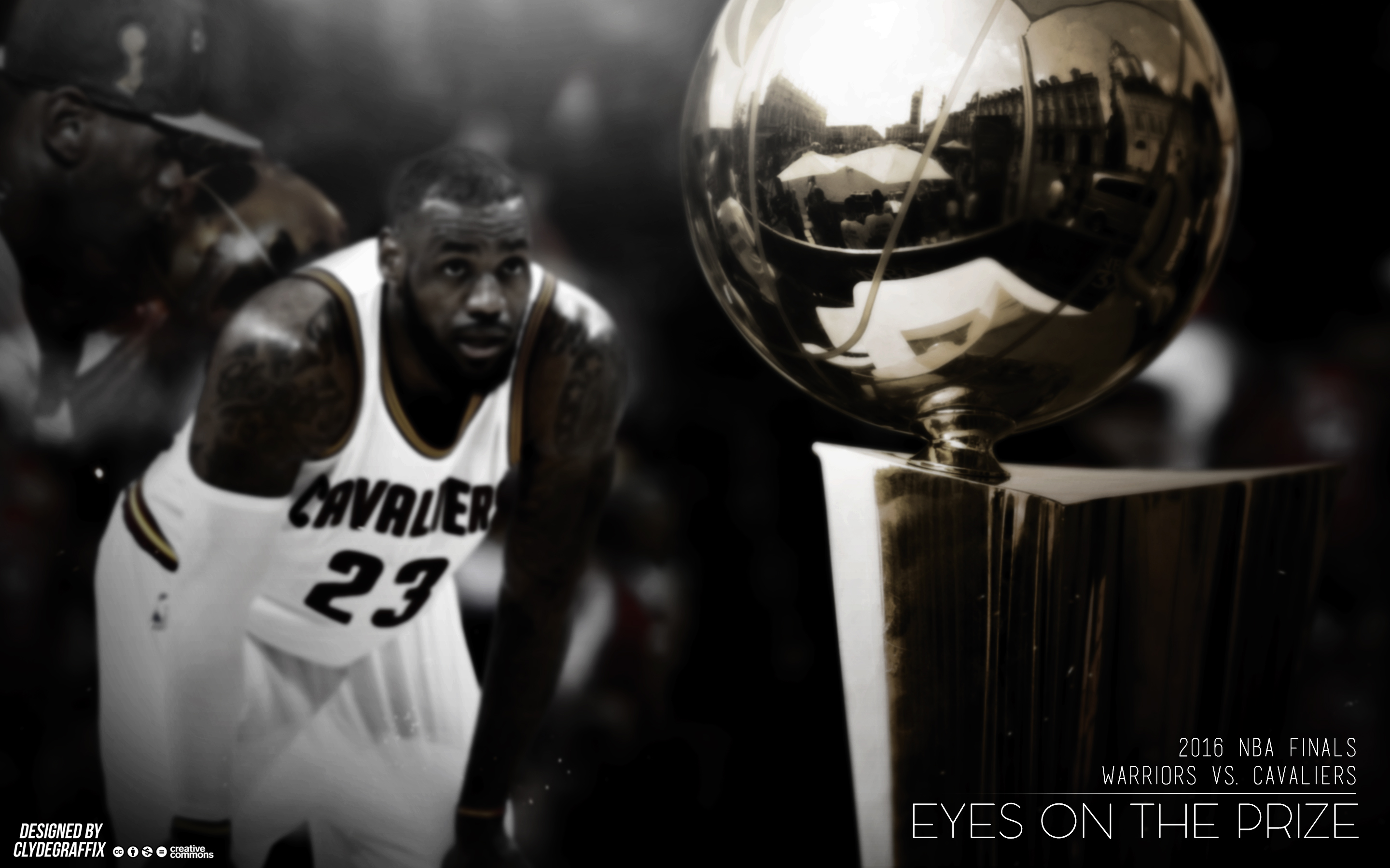 Lebron James Eyes On The Prize Wallpaper By Clydegraffix On Deviantart
