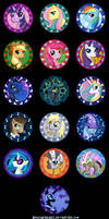 My Little Pony - Full Pin Project by NikkiWardArt